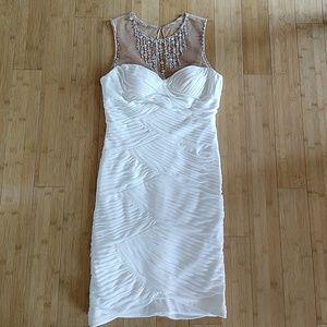 Cache Formal White Dress